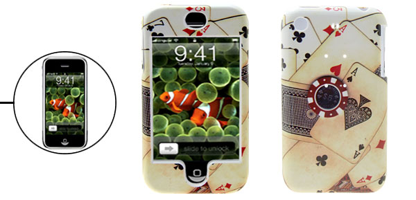 Stylish Poker Protective Hard Plastic Case Cover for Apple iPhone 1st Generation