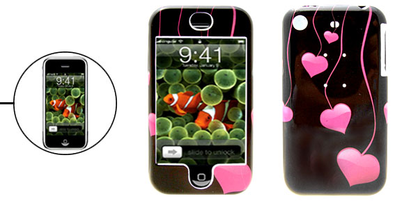 Stylish Flying Heart Protective Case Plastic Hard Cover for Apple iPhone 1st Generation