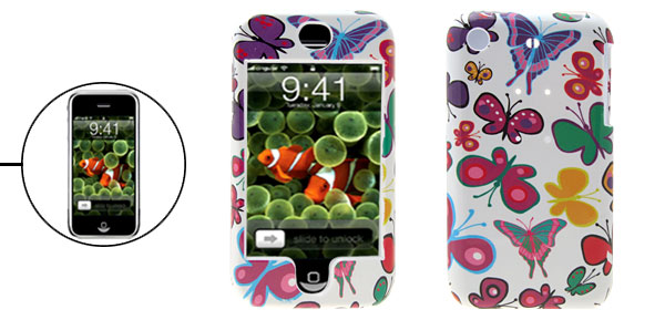 Stylish Butterfly Plastic Hard Protective Case Cover for Apple iPhone 1st Generation