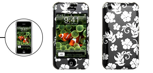 Stylish Flower Plastic Hard Cover Protective Case for Apple iPhone 1st Generation