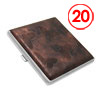 Metal Cigarette Case Holder Leather Covered for 20 Cigarettes