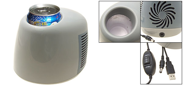 Mini Travel USB Cup Can Beverage Cooler Warmer Refrigeratory