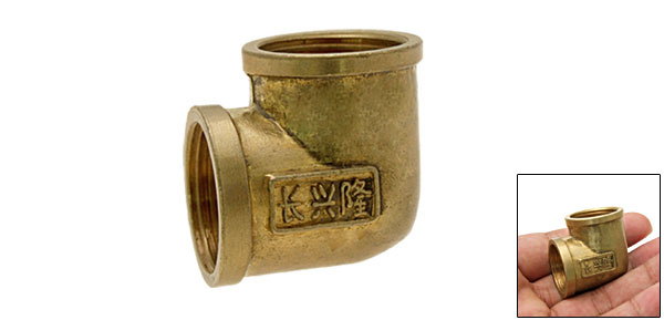 90 Degrees Threaded Copper Pipe Elbow fittings Female