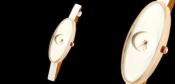 Fashion Jewelry White Ladies Girls Oval Face Ultra Slim Women Watch