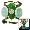 Dual Twin Cartridge Filter Respirator Half Facepiece Dust Proof Mask