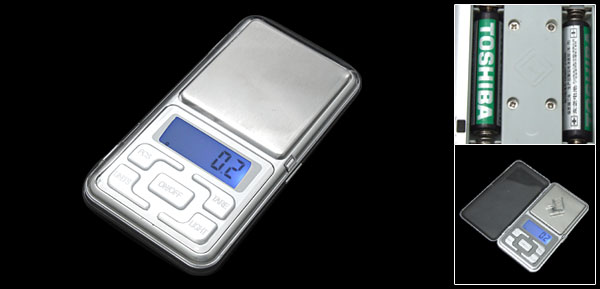 Portable Mini Crystal Digital LCD 500 Grame Weight Scale Silver