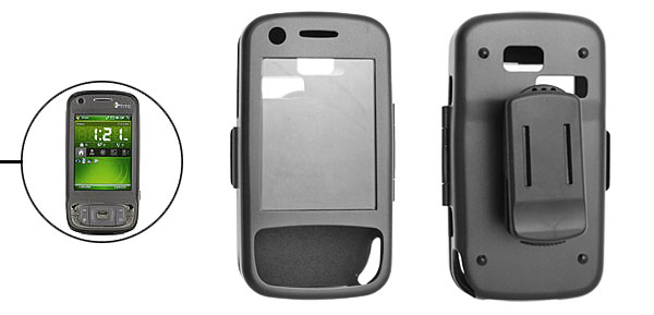 Aluminum Protector Case and Clip for Cell Phone HTC TyTn II Black