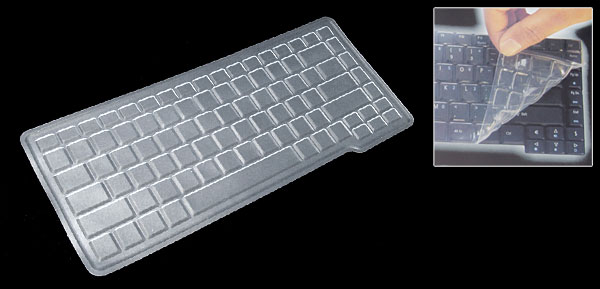 Clear Keyboard Protector Silicone Skin Cover for Asus A3 A5 W1 (ML-1015a)