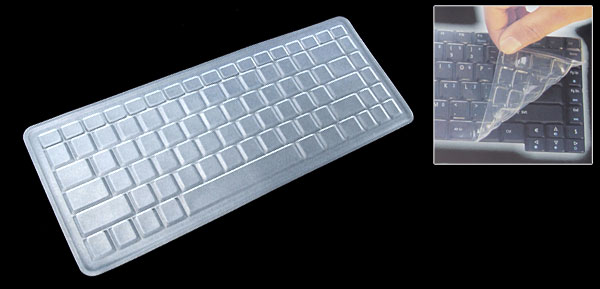 Clear Laptop Keyboard Silicone Skin Cover for Asus A8 (ML-1015)