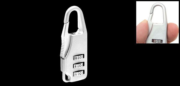 Mini Resettable 3-Digit Combination Lock Padlock Silver