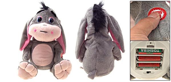 Electric Singing Wags Ear Donkey Funny Plush Animal Toy