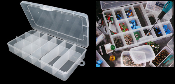 Plastic Adjustable Compartments Fishing Tackle Lure Bait Box
