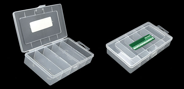 5 Compartments Transparent Plastic Fishing Lure Bait Tackle Box