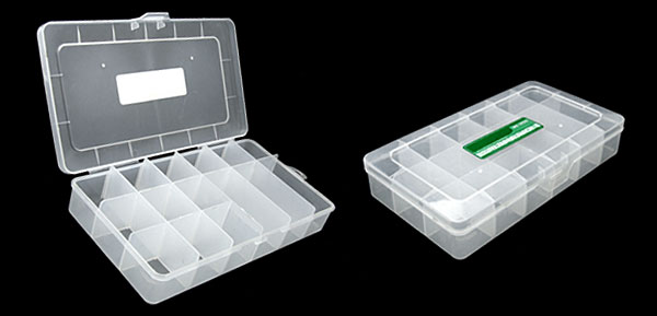 15 Compartments Transparent Plastic Fishing Tackle Lure Bait Box