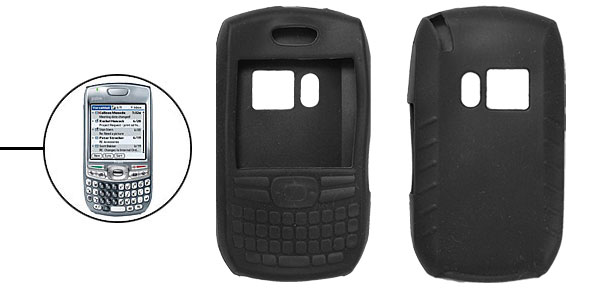 Stylish Protector Silicone Skin Case Cover for Palm Treo 680 750 Black