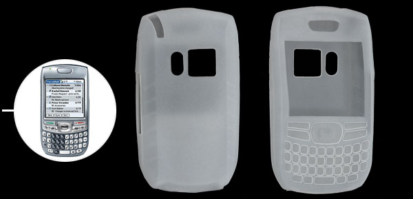 Clear Protector Silicone Skin Case Cover for Palm Treo 680 750 White