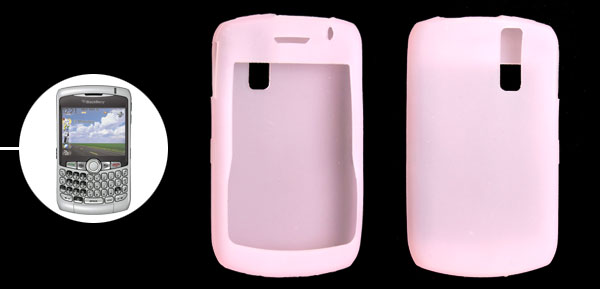 Smooth Silicone Skin Case Pink for BlackBerry Curve 8300 8310 8320
