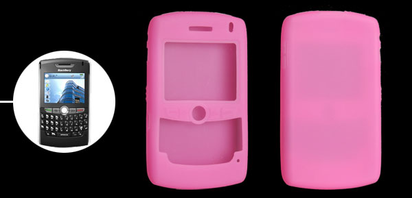 Stylish Pink Silicone Skin Case Cover for BlackBerry 8800