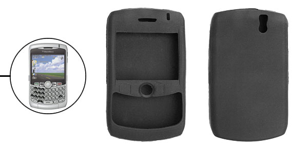 Silicone Skin Case for BlackBerry Curve 8300 8310 8320 Black