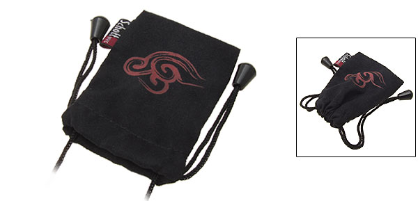 Black Tribal Celtic Pattern Cloth Pouch Bag for Cell Phone Mp3