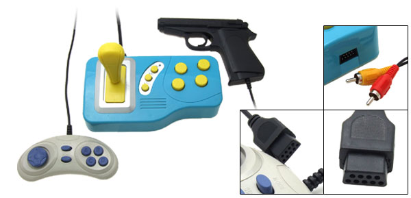 Blue 76 in 1 TV Games Station Control Electronic Gun Set