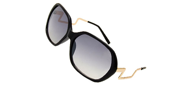 Stylish Ladies Eyewear Solar Shield Sunglasses with Black Frame