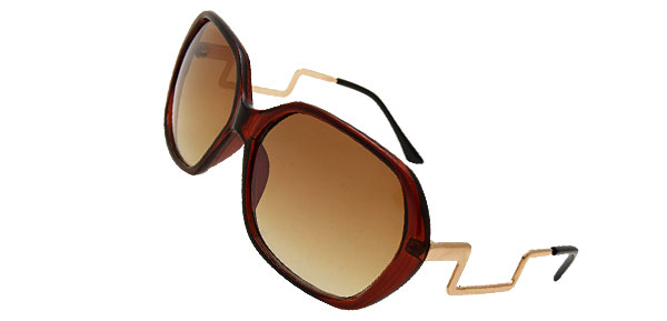 Stylish Ladies Eyewear Solar Shield Sunglasses with Amber Lens