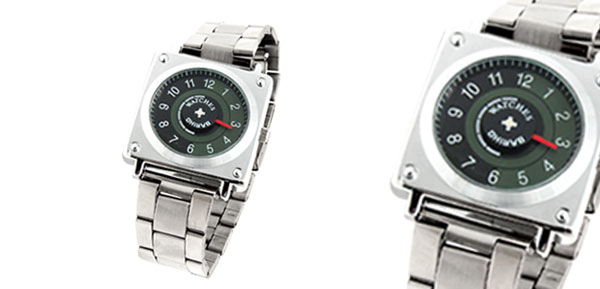 Fashion Jewelry Men's Rectangle Metal Men's Watches Silver