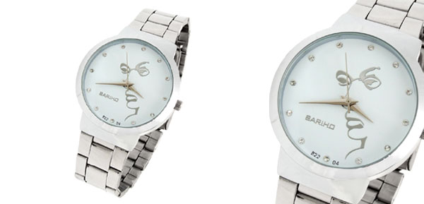 Fashion Jewelry White Dial Round Men's Wrist Watches