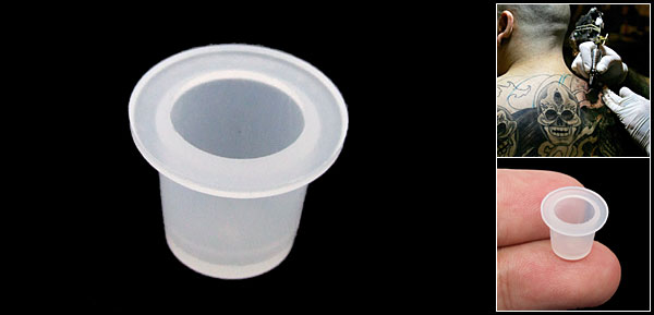 Small Tattoo Ink Colour Pigment Plastic Cup Holder Stand Tool Clear White