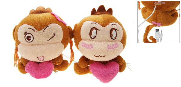 Twin Monkey Dolls Laptop Notebook Desktop Mp3 Mp4 Speakers