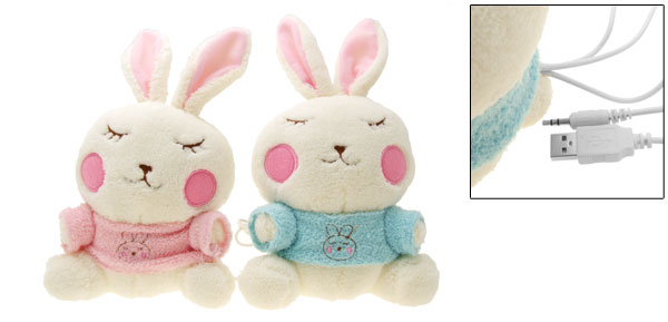 Cute Rabbits Desktop Laptop Notebook Mp3 Mp4 Dolls Speakers