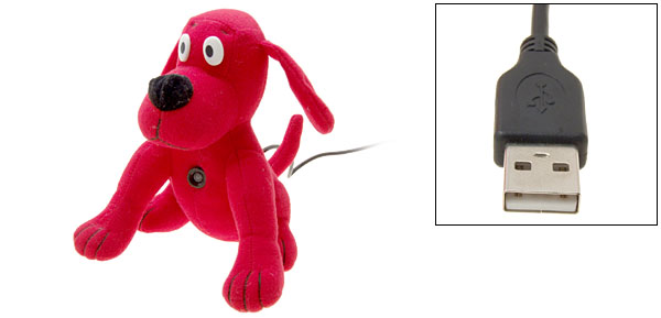 Toys Red Dog PC USB Digital Video Webcam Web Camera