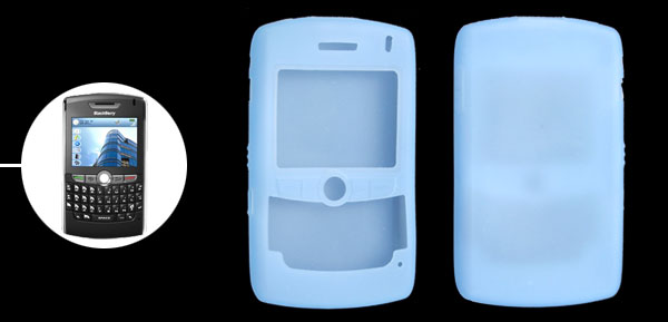 Stylish Silicone Skin Case Cover for BlackBerry 8800 Light Blue