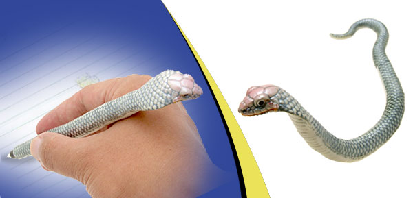 Silver Cobra Snake Ball-Point Ball Pen
