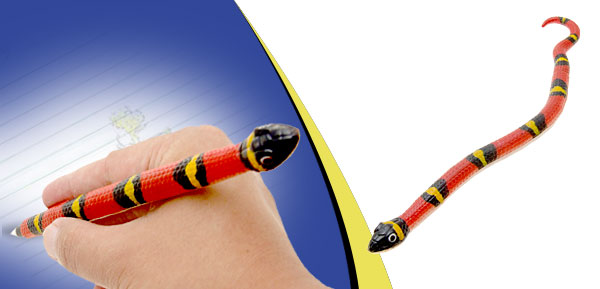 Red Coral  Snake Ball Pen Animal Ball-Point Pen