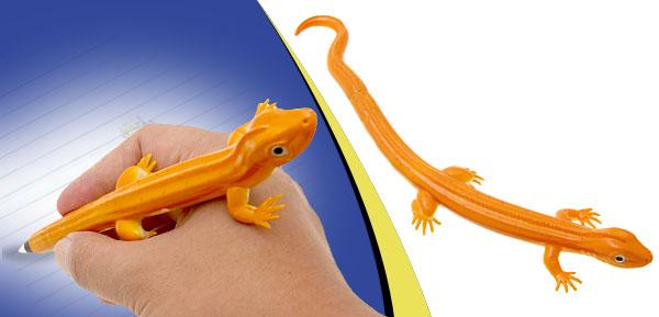 Lizard Ball-Point Pen Hand-Painted Animal Ball Pen Yellow