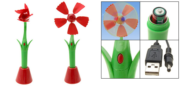 Red Green Sunflower Notebook Laptop Desktop PC USB Fan