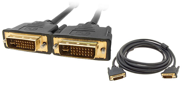 Golden Plated 24+5 DVI-I Dual Link Male to Male Video Cable 5M