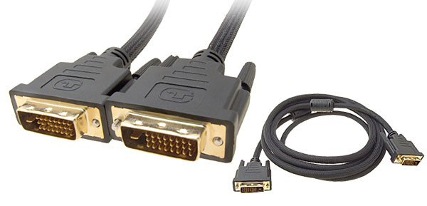 3 Meters DVI-D Dual Link Male to Male Digital Video Cable with Net Jacket