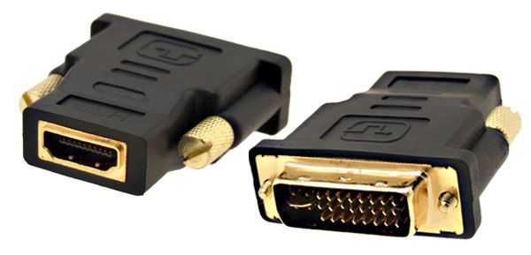 Home TV Audio DVI-I Dual Link Male To HDMI Female Adapter Connector