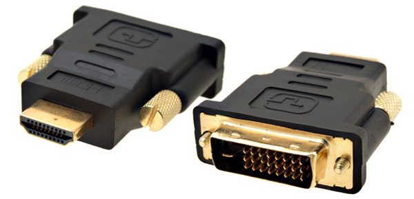 Black Plastic Shell HDTV DVI-D Dual Link Male to HDMI Male