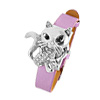 Fashion Jewelry Purple Leather Band Rhinestone Fox Watches