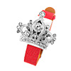 Fashion Jewelry Red Leather Band Rhinestone Diadem Watchcase Ladies Watch