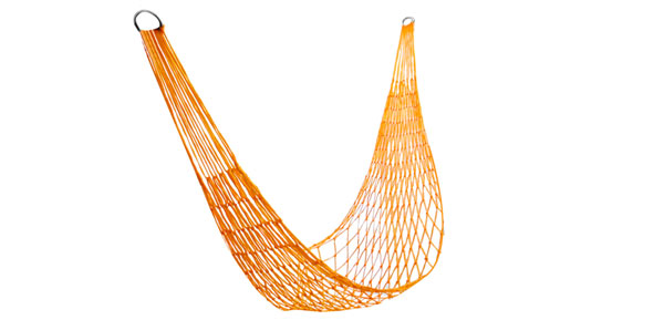 Summer Garden Rope Hammock Yellow