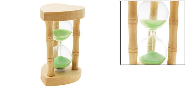 Sand Timer Classic Heart Design Wooden Sandglass Hourglass