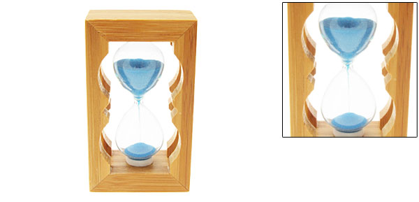 Classic Pocket Sandglass Sand Timer Wooden Hourglass