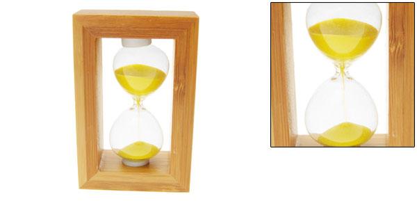 Vintage Wooden Hourglass Classic Pocket Sandglass Sand Timer