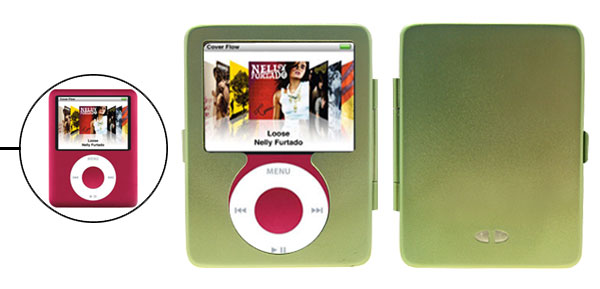 Luxury Metal Aluminum Shock Proof Hard Case Cover for iPod Nano 3G 3rd Generation Green