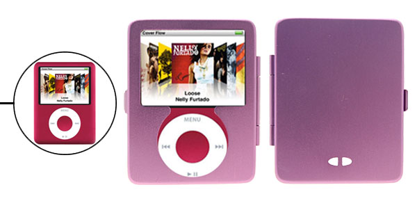 Luxury Shock Proof Aluminum Metal Hard Case Cover for iPod Nano 3G 3rd Generation Purple